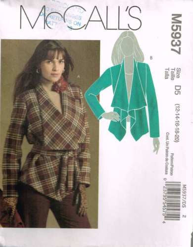 5937 Sewing Pattern McCall's Ladies LIned Jacket 12 14 16 18 20