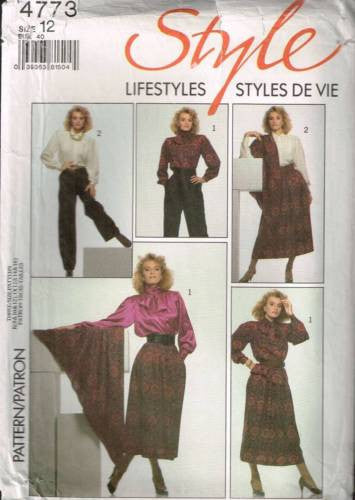 4773 Sewing Pattern Style Ladies Skirt Blouse Pants Shawl 12
