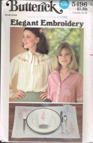 *5496 Sewing Pattern Vintage Transfers for Elegant Embroidery