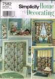 7582 Sewing Pattern Shower Curtain and Covers Window Treatment