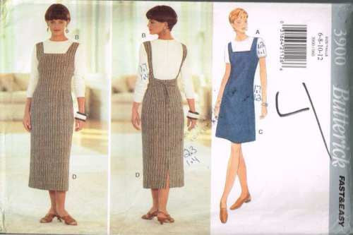 3900 Sewing Pattern Butterick Ladies Jumper and Top 6 8 10 12