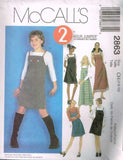*2863 Sewing Pattern McCall's Girls 2 Hour Jumper 7-8-10 or 12-14-16