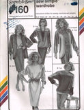 160 Sewing Pattern Ladies Jacket Dress Color Blocked Sweatshirt 30-46