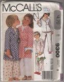 9300 Sewing Pattern McCall's Kids Girls Boys Pajamas Robe 3