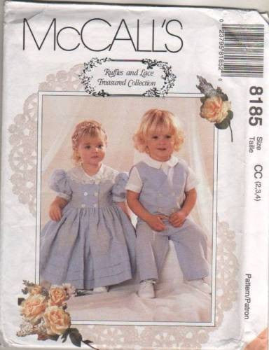 "8185 Sewing Pattern McCall's ""Ruffles & Lace"" Dress Pants Vest Shirt 2 3 4"