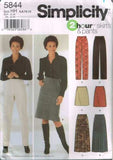 *5844 Sewing Pattern Ladies Skirt and Pants 6 8 10 12