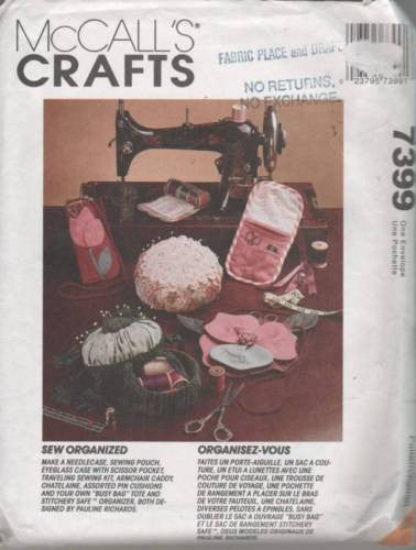 7399 / 657 Sewing Pattern McCall's Sewing Room Accessories Pin Cushion Caddy Kit