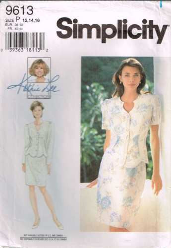 9613 Pattern Ladies Jacket & Skirt by Kathie Lee Detailed Neckline 12 14 16