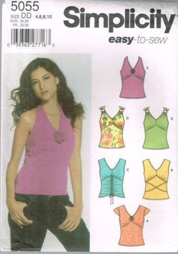 *5055 Sewing Pattern Ladies Sexy Shirred Tops 4 6 8 10