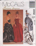 *2232 Sewing Pattern McCall's Ladies Wedding Bridal Gown Bustier Bustle 4 6 8