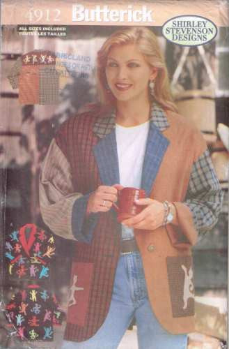 4912 Sewing Pattern Butterick Ladies Coat Jacket S M L