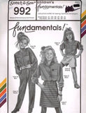 992 Sewing Pattern Girls Blouse Pants Skirt Top Chest 21-31