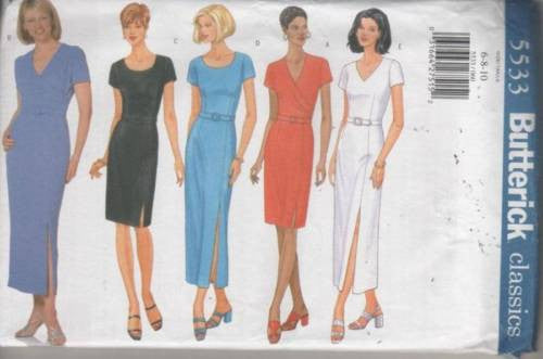 5533 Sewing Pattern Ladies Fitted Dress 6 8 10