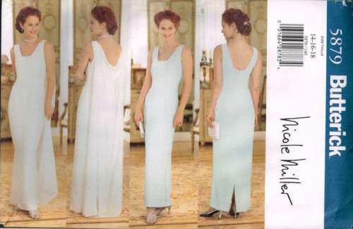 5879 Sewing Pattern McCall's Ladies Wedding Bridal by Nicole Miller 14 16 18
