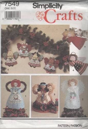 *0604 / 7549 Sewing Pattern Christmas Ornament Animals Angel Angels