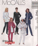 7942 Sewing Pattern McCall's Ladies Tunic Top Hooded Jacket Pants L(16-18)