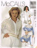 6884 Sew Pattern McCall's Ladies Shirt Blouse Western and Lace Detailing 6 8 10