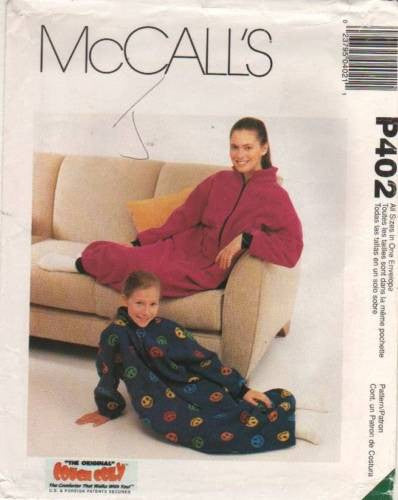 *402 / 9580 Sewing Pattern McCall's Couch Cozy Sleep Sack  One Size +