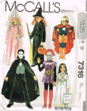 7316 Pattern McCall's Costume Kids Dracula Angel, Witch, Princess 10-12