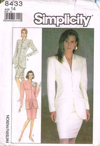 8433 Sewing Pattern Wedding Suit, Bridal Jacket Skirt 14