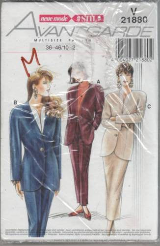 K21880 Sewing Pattern Ladies neue mode Blazer Jacket Pants 10 12 14 16 18 20