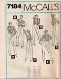7184 Sewing Pattern Vintage McCall's Pants 10