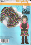 "4447 Sewing Pattern Girls ""Patty Reed"" Fleece Jumper and Blanket 3 4 5 6 7 8"