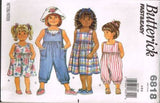 6818 Sewing Pattern Butterick Girls Jumpsuit Jumper 4 5 6