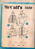 3439 Vintage Sewing Pattern McCall's Mens Dress Sport Shirt 46 Neck 17