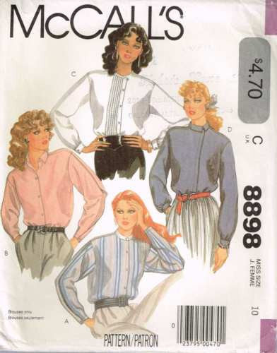8898 Sewing Pattern Vintage McCall's Ladies Blouse Asymmetrical Front 10