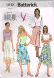 3858 Sewing Pattern Butterick Ladies Asymmetrical Skirt 12 14 16