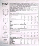 9655 Sewing Pattern Girls Easy 2 Hour Sailor Collar Top Skirt Shorts 12 14