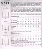 "9741 Sewing Pattern Ladies ""Kathie Lee"" Vest with Variations 6 8 10"