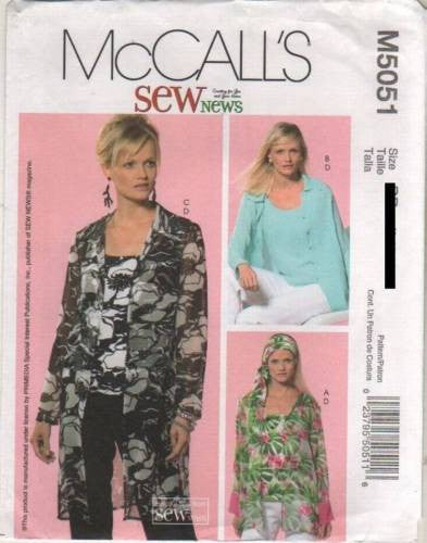 5051 Sewing Pattern Ladies Tank Top, Blouse, Jacket 8 10 12 14