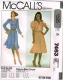 7463 Sewing Pattern Vintage McCall's Ladies Dress Flared Skirt 10 12 14