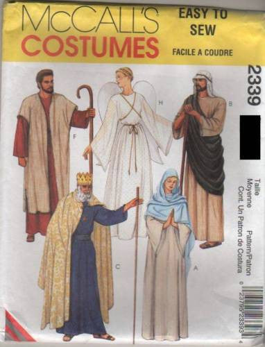 *2339 Sewing Pattern McCall's Costume Adult Passion Play Nativity Mary Joseph Ang