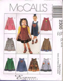 *2300 *Sewing Pattern McCall's Girls Jumper with variations 6 7 8