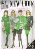 6125 Sewing Pattern New Look Ladies Dress Tunic Top Jacket Skirt 10 12 14 16 18