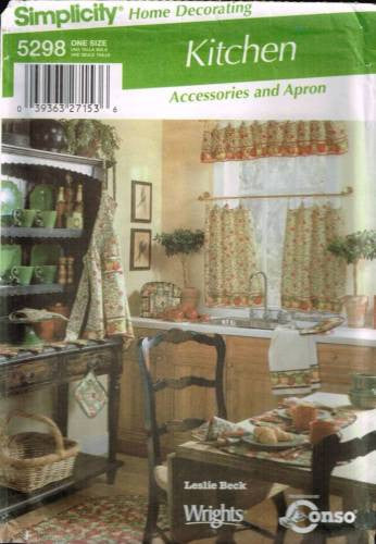 *5298 Sewing Pattern Easy Kitchen Accessories and Apron
