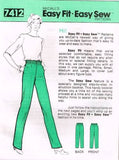 7412 Sewing Pattern Vintage McCall's Ladies Pull-On Pants XS S M L