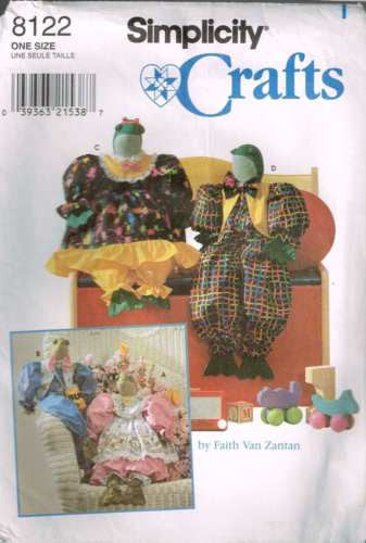 8122 Sewing Pattern By Faith Van Zantan Frog Boy & Girl with Clothes 25""