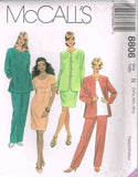 8806 Sewing Pattern McCall's Plus Size 14 1/2, 16 1/2, 18 1/2