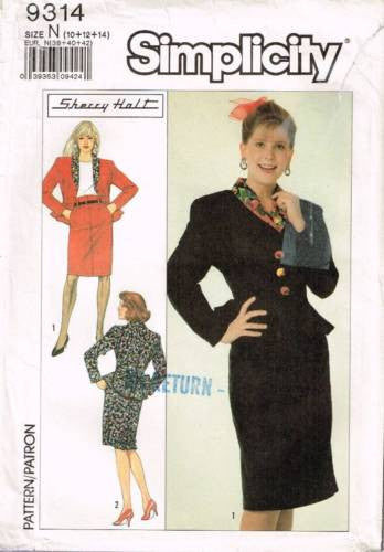 9314 Sewing Pattern Ladies Two Piece Dress w/ Peplum by  Ms S Holt 10 12 14
