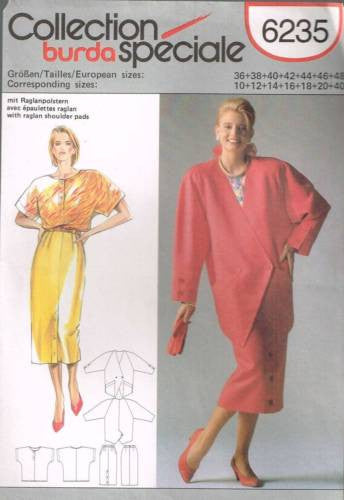 6235 Sewing Pattern Burda Ladies Jacket Pants Blouse10 12 14 16 18 20 40