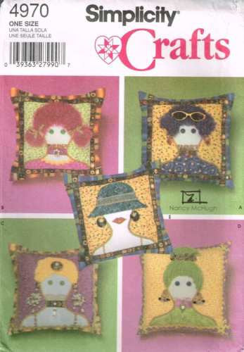 4970 Sewing Pattern Applique Pillows Cushion