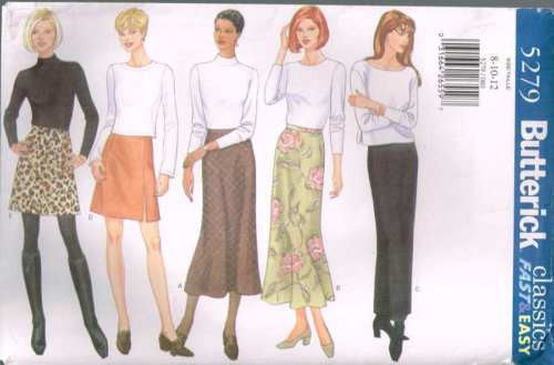 5279 Sewing Pattern Butterick Ladies Skirt w Variations 8 10 12