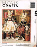 "*749 / 8035 Sewing Pattern McCall's ""Hop To It"" Bunny Rabbit 34"" Tall w Clothes"