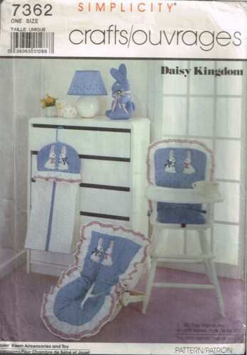 7362 Sewing Pattern McCall's Baby Infant Accessories Bunny Rabbit and Covers