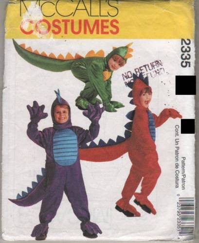 *2335 Sewing Pattern KIDS DRAGON DINOSAUR COSTUME MCCALL'S 2