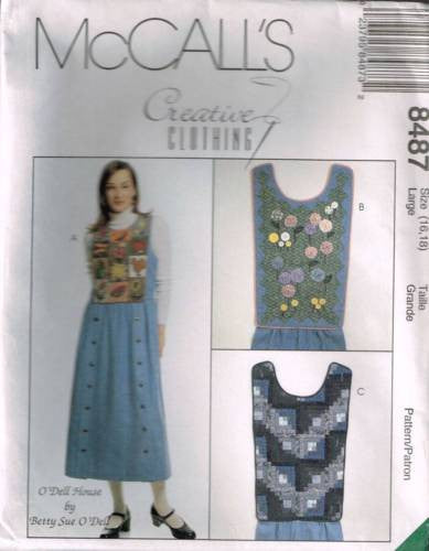 8487 Sewing Pattern McCall's Ladies Jumper w Detachable Bib 16-18
